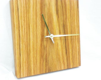 Square Wall Clock - Retro Wood Clock