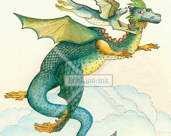 Explore Life Together - A7 Card - Magical Dragons