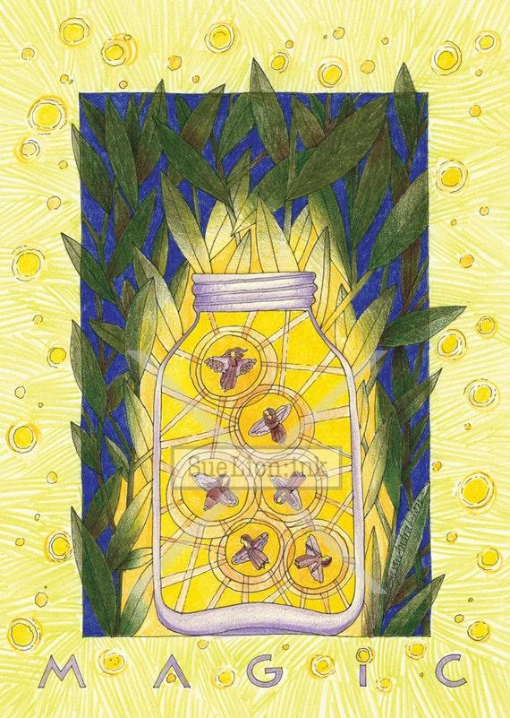 Magic Talisman - A7 Card - Fireflies Are Angels