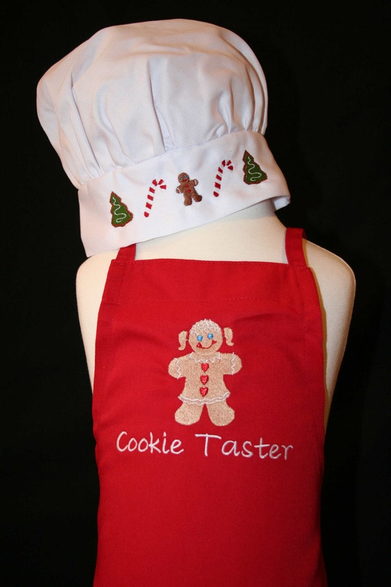 children 39 s holiday chef apron and hat children 39 s. Black Bedroom Furniture Sets. Home Design Ideas