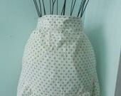 Frilly Vintage Polka Dot Apron with Ric-Rac