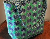 Reusable Grocery Bag Tote - Washable Tote Bag - Chinese Lanterns Market Bag
