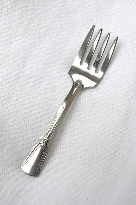 RESERVED FOR MIMI Web Silver Company Sterling Baby Fork Art Deco was 24.00