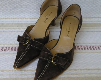 Vintage ROBERTO SANTI suede pumps, size 39 (eur), 8.5 (us), on sale