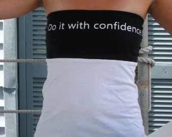 Tie Around Sleeveless Top:  Do It With Confidence