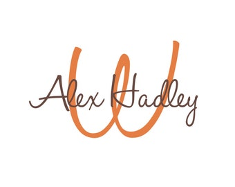 """Initial and Name Vinyl Wall Decal for Boy Girl Baby Nursery Monogram Wall Decal Teen Bedroom 22""""H x 36""""W"""