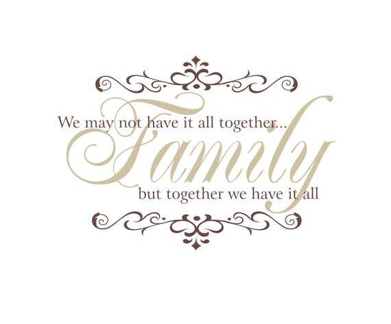Items Similar To Family Vinyl Wall Decal We May Not Have