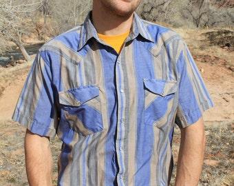 Saddle Up - Vintage 80s Western Cowboy Hip Hipster Shirt, Saddle King, Large / XL