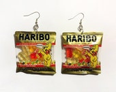 Mini Gummy Bear Bag Dangle Earrings