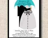 Printable Bridal Shower Invitation - Umbrella - Rain Shower Theme