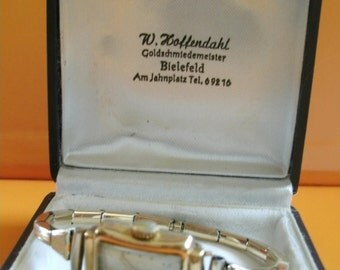 Vintage German Womens Wrist Watch Lunette Walz Gold Double 20 Mikron