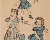 """Vintage 1940s Advance Girls Dress Pattern 4702 Size 6 (24"""" Chest)"""