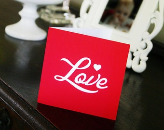 VALENTINES Printable Card - LOVE - Print Your Own