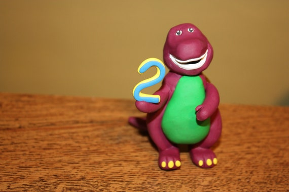 Barney Cake Topper uk Barney Ornament / Cake Topper