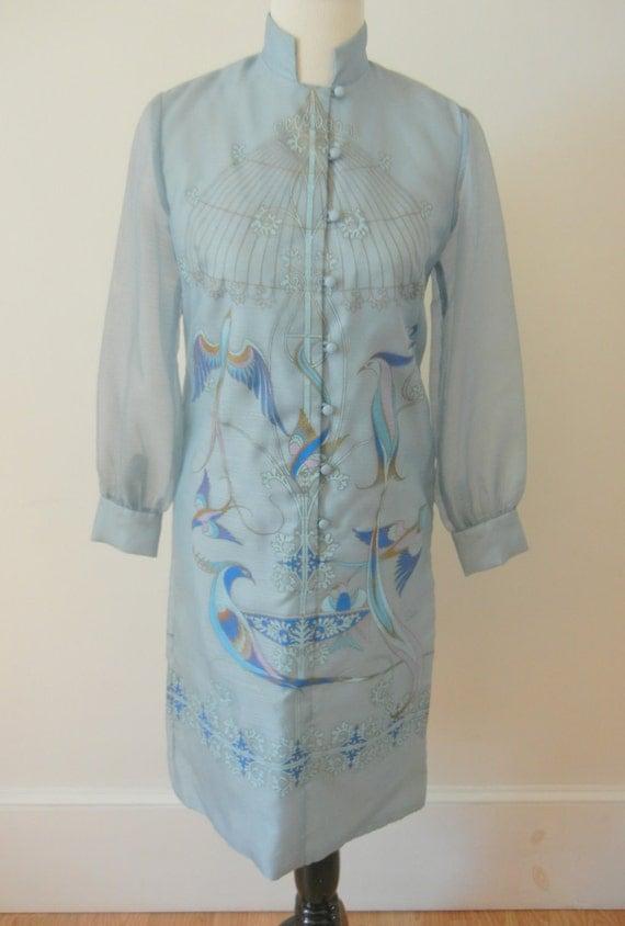 Vintage Alfred Shaheen Handpainted Dress