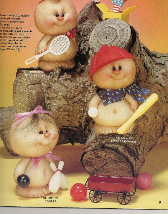 Doll Pattern Book, Soft Sculpted Pantyhose Wee-Folk Stumpkin Dolls 1985