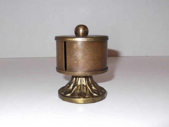 Vintage Brass Stamp Holder  / Vintage Office Decor / Cottage Chic / Desk