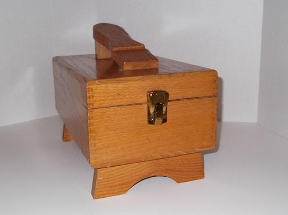 Vintage Shoe Shine Box With Electric Polisher Buffer