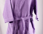 Personalized Waffle Weave Kimono Thigh Length Spa Purple Lilac Robe Monogrammed