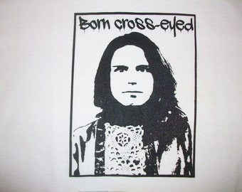 Born Cross-Eyed-Bob Weir -old school early 90s Mongo Arts lot tee- Vintage Bobby Weir T shirt design
