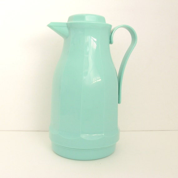 Vintage Thermos Carafe -  Mint Green Sorbet - Insulated - 1980s