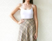 "Vintage high waisted wool skirt, 60s, small - tweed. . . . . ""Like"" our fb page for 10% discount"