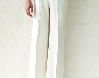 "SALE - Original 1960s bell bottom flares, small -  cloudy cream . . . . . . . ""Like"" our fb page for 10% discount"