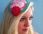 Lilly Pulitzer Pink & Teal Fascinator