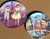 """Vintage 1985 BERNARD PELTRIAUX PLATES  """"Porcelines Limges-Turgot"""" Made in France"""