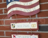 Home is where the Military sends us - Military duty station sign