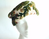 Reserved...Carpet Hat - 1960s Vintage Pillbox Style - Tapestry - WLV T