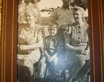 "Vintage Photograph 1940s Family on the Farm 7 1/2"" x 5 1/2"""