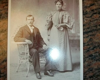 Victorian Husband and Wife Cabinet Card Photograph