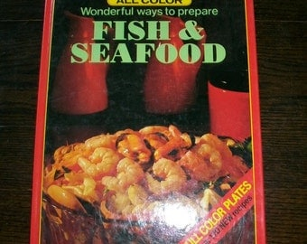 Vintage Cookbook Fish and Seafood by Mansfield