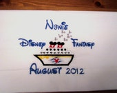 Disney Cruise personalized embroidered character pillowcase
