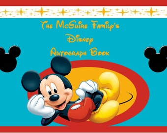 Mickey autograph book with a personalized cover for your Disney vacation