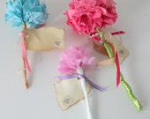 Tissue Flowers - Set of 3 Paper Roses - Ready to Ship
