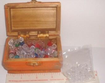 Clown pocket magic, Treasure chest of Gems, Small Wooden box