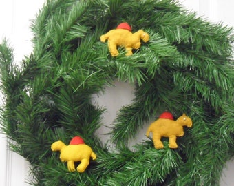 Three  Felt Camel Magnets, Christmas Ornaments, Baby Mobile, FREE Shipping
