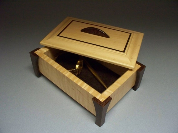 Maple & Wenge Collectibles Box with Lacquer Finish