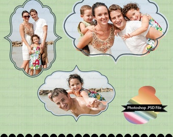 Photoshop frame PSD photographer clip art for invitations digital frame : e0128