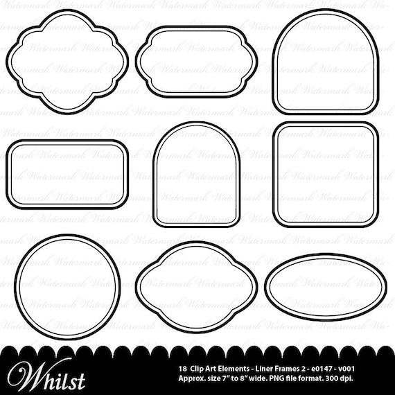 Digital frame clip art black clipart square rectangle circle oval ...