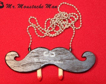 Vampire Emergency Moustache Necklace