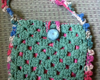 Crocheted Granny Square Purse #108