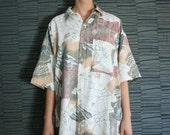 Vintage Abstract Pattern Mens Shirt