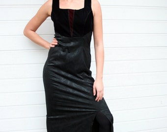 Vintage Sleeveless  Black Dress
