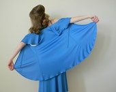 Vintage 70's Grecian Blue Dress with Jacket Spaghetti Strap Dress