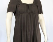 Plus Size Peasant Top - Modern -Draping Tunic -Eco Friendly, Natural Fiber Jersey-Made to Order Size and Color Choice -XL,2X,3X,4X,5X,6X