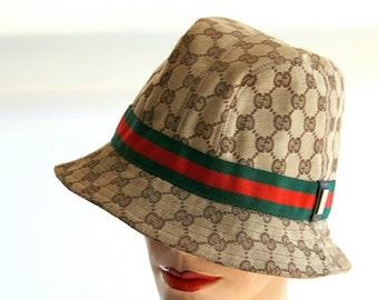 Vintage 90's Gucci Fedora - Bucket Hat Size LARGE