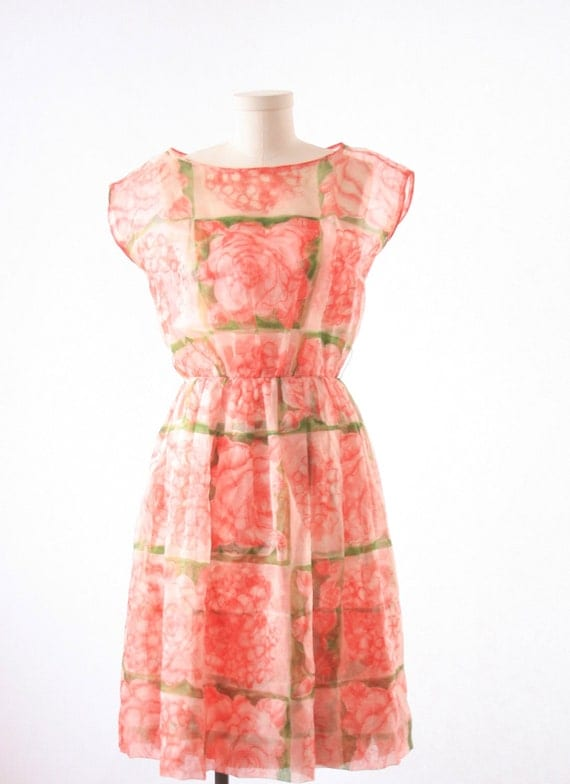 Floral Evening Dress - 1950-1960's - GORGEOUS - Size Small - Neusteters